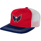 9b84eee3e0c0f Product Image · NHL Youth Washington Capitals Striped Trucker Adjustable Hat