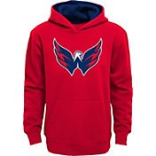 NHL Youth Washington Capitals Prime Fleece Red Pullover Hoodie