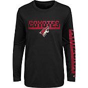 NHL Youth Arizona Coyotes Slap Shot Black Long Sleeve Shirt
