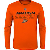 NHL Youth Anaheim Ducks Prime Stock Orange Long Sleeve Shirt
