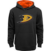 NHL Youth Anaheim Ducks Prime Fleece Black Pullover Hoodie
