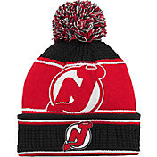 NHL Youth New Jersey Devils Grind Cuff Pom Knit Beanie
