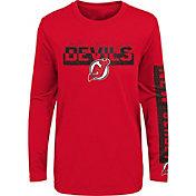 NHL Youth New Jersey Devils Slap Shot Red Long Sleeve Shirt