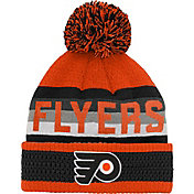 NHL Youth Philadelphia Flyers Cuff Pom Knit Beanie
