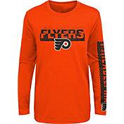 NHL Youth Philadelphia Flyers Slap Shot Orange Long Sleeve Shirt