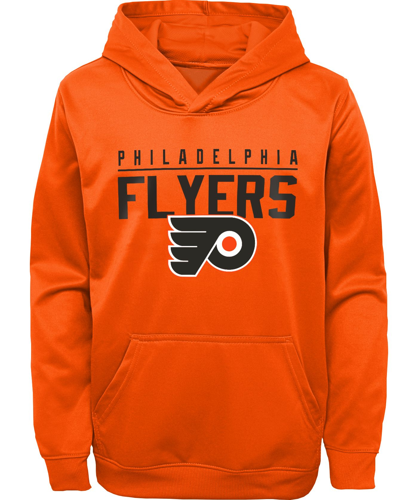 NHL Youth Philadelphia Flyers Pacesetter Orange Pullover Hoodie