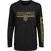 NHL Youth Vegas Golden Knights Slap Shot Black Long Sleeve Shirt