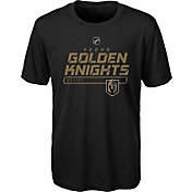 NHL Youth Vegas Golden Knights On Ice Black Performance T-Shirt