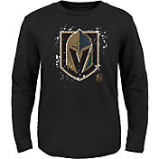 NHL Youth Vegas Golden Knights Deconstructed Black Long Sleeve Shirt