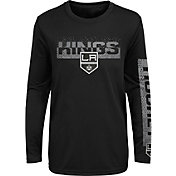 NHL Youth Los Angeles Kings Slap Shot Black Long Sleeve Shirt