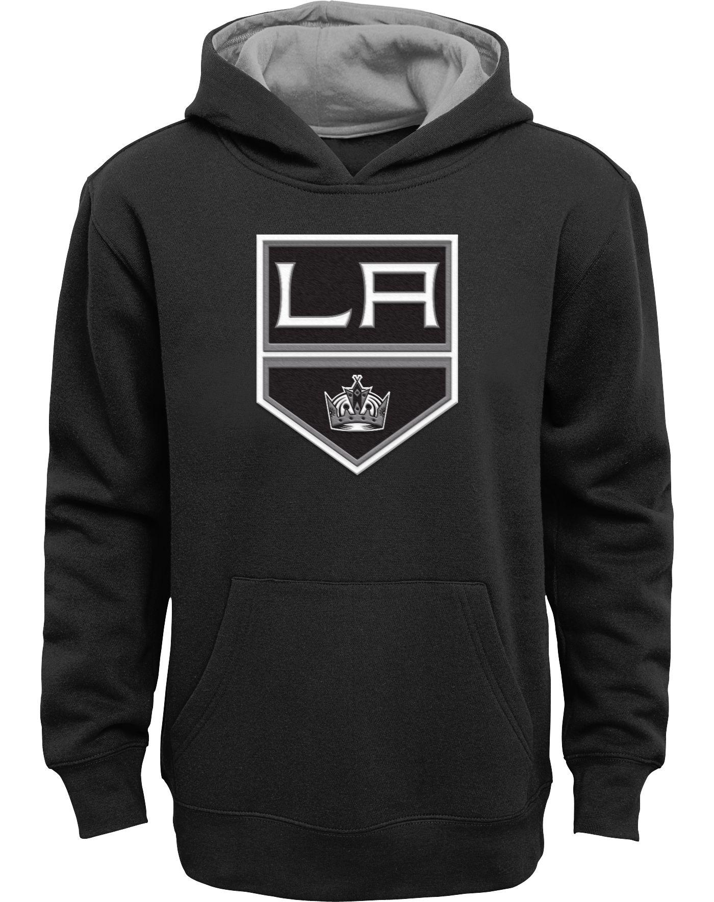 NHL Youth Los Angeles Kings Prime Fleece Black Pullover Hoodie