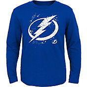 NHL Youth Tampa Bay Lightning Deconstructed Royal Long Sleeve Shirt