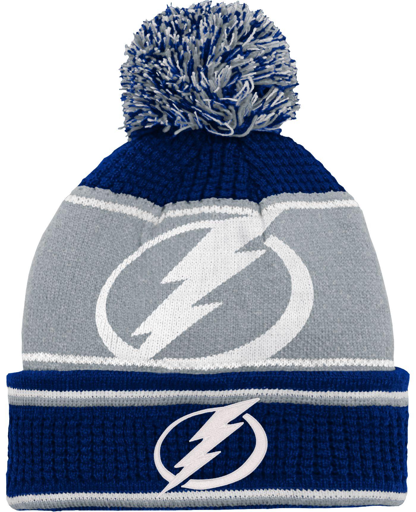 NHL Youth Tampa Bay Lightning Grind Cuff Pom Knit Beanie