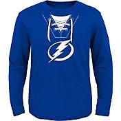 NHL Toddler Tampa Bay Lightning Mock Jersey Royal Long Sleeve Shirt