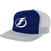 NHL Youth Tampa Bay Lightning Striped Trucker  Adjustable Hat