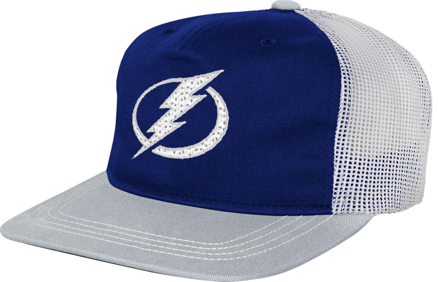 NHL Youth Tampa Bay Lightning Striped Trucker  Adjustable Hat