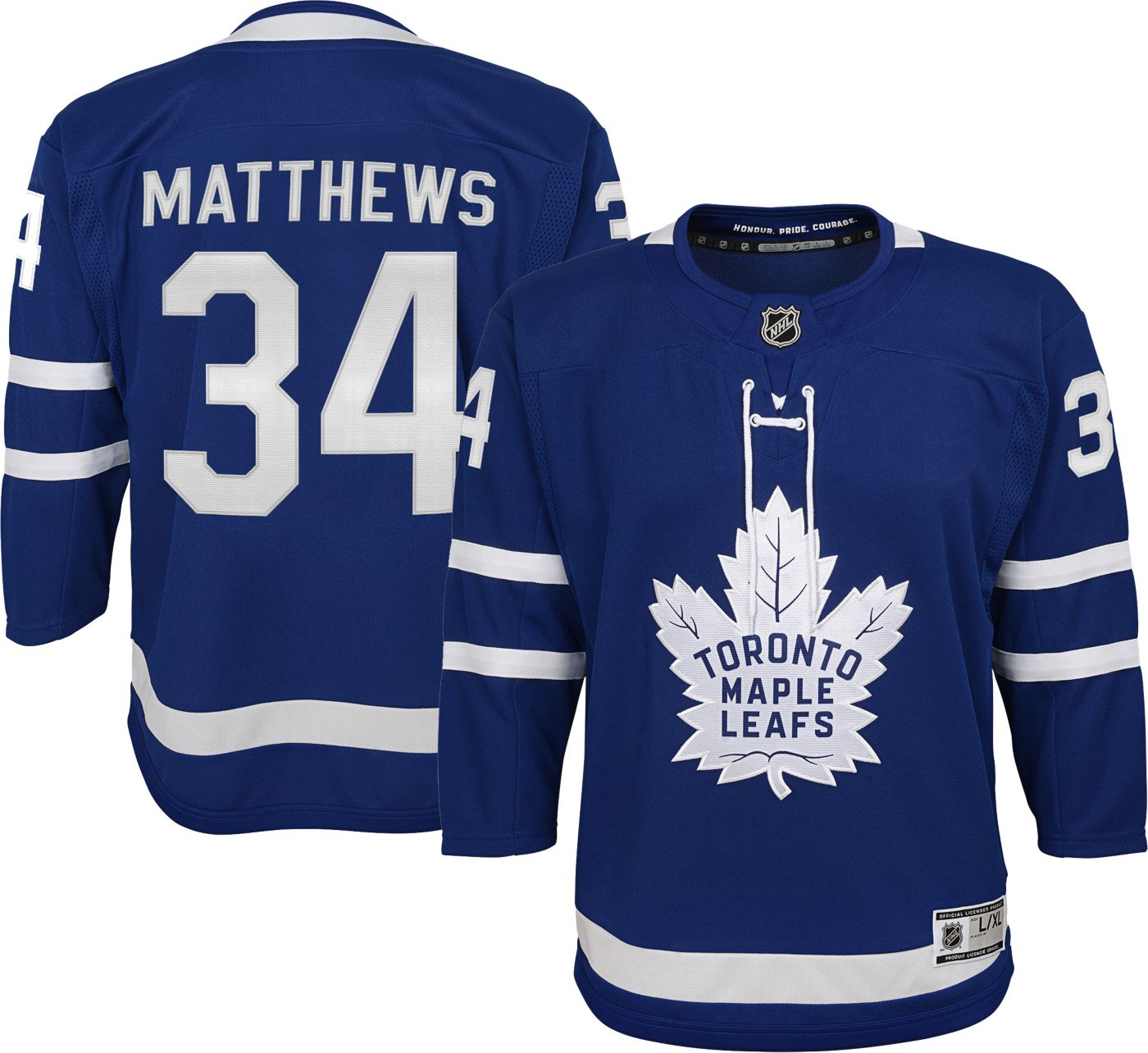 NHL Youth Toronto Maple Leafs Auston Matthews #34 Premier Home Jersey