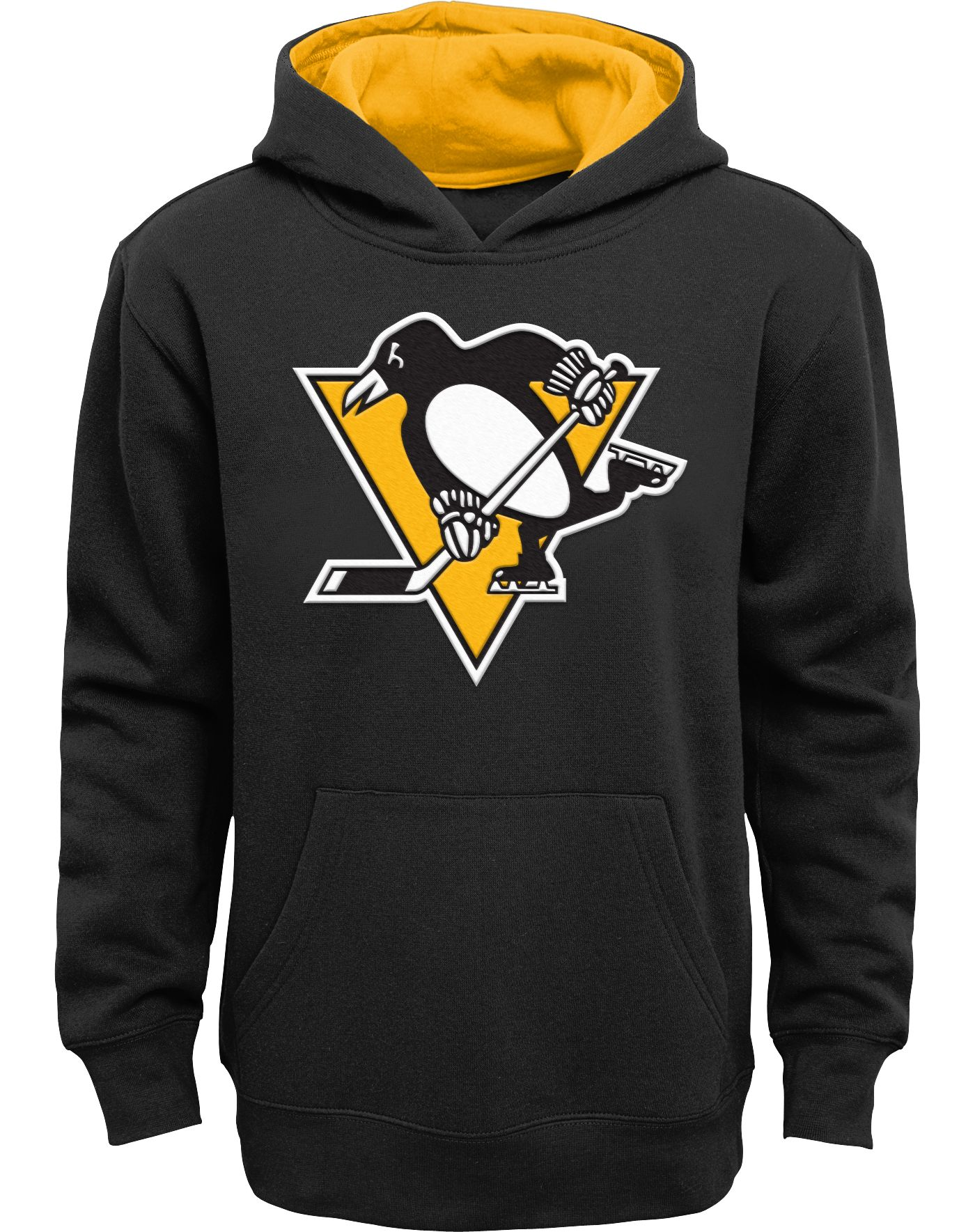 NHL Youth Pittsburgh Penguins Prime Fleece Black Pullover Hoodie