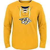 NHL Toddler Nashville Predators Mock Jersey Gold Long Sleeve Shirt
