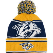 NHL Youth Nashville Predators Grind Cuff Pom Knit Beanie