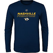 NHL Youth Nashville Predators Prime Stock Navy Long Sleeve Shirt