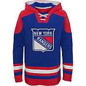 NHL Youth New York Rangers Ageless Royal Pullover Hoodie