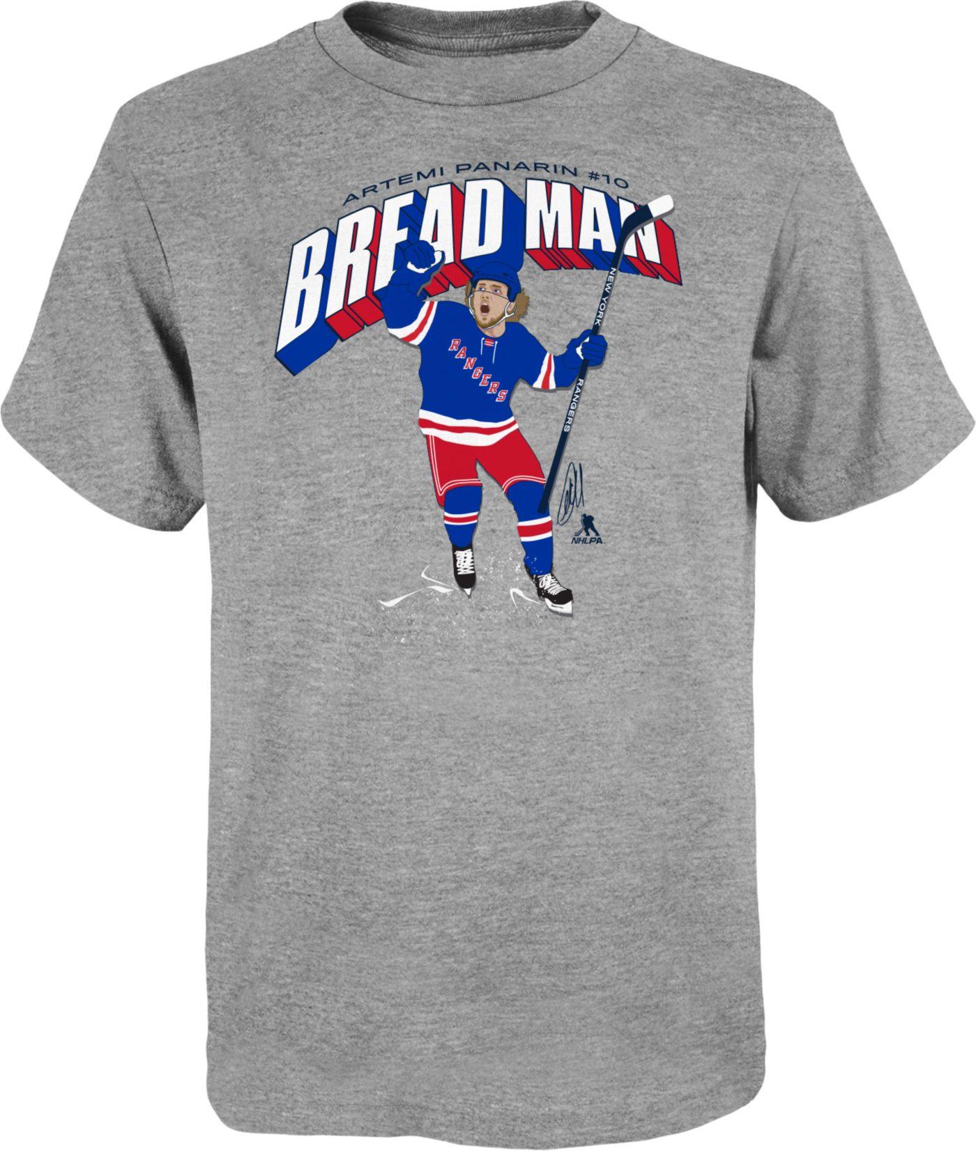 NHL Youth New York Rangers Artemi Panarin #10 Breadman Heather Grey T-Shirt