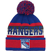 NHL Youth New York Rangers Cuff Pom Knit Beanie