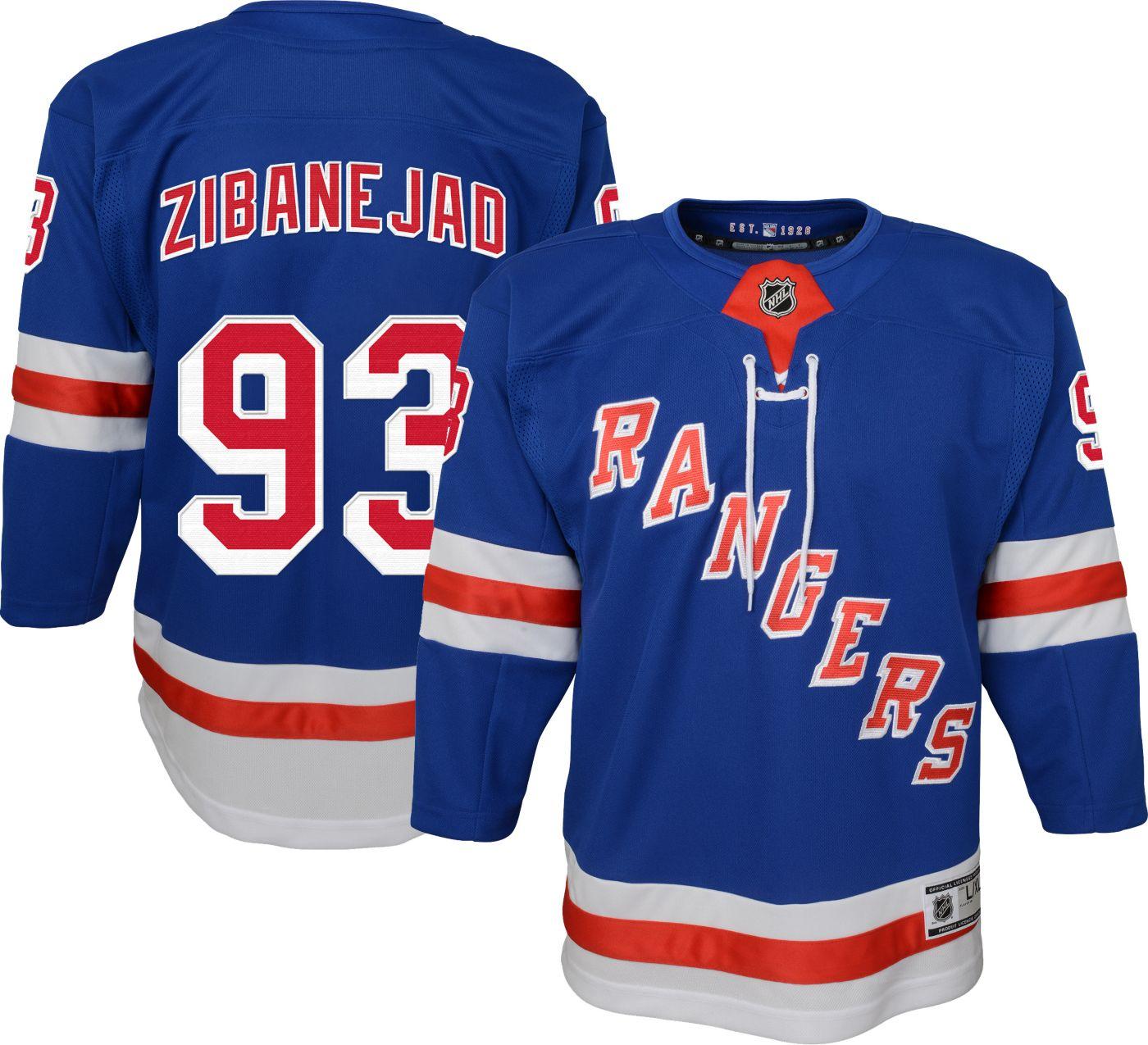 NHL Youth New York Rangers Mika Zibanejad #93 Premier Home Jersey