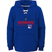 NHL Youth New York Rangers On Ice Royal Pullover Hoodie