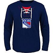 NHL Toddler New York Rangers Mock Jersey Royal Long Sleeve Shirt