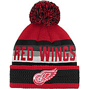 NHL Youth Detroit Red Wings Cuff Pom Knit Beanie