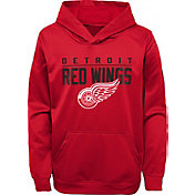 NHL Youth Detroit Red Wings Pacesetter Red Pullover Hoodie