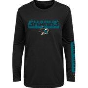 NHL Youth San Jose Sharks Slap Shot Black Long Sleeve Shirt