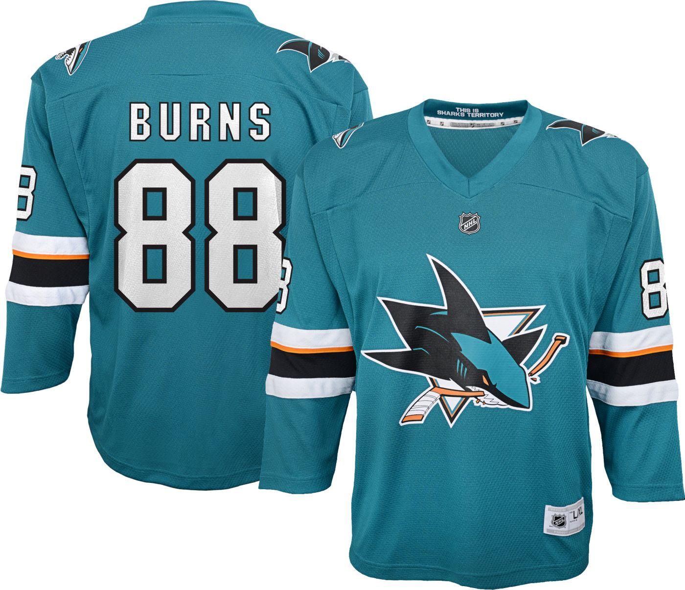 NHL Youth San Jose Sharks Brent Burns #88 Replica Home Jersey