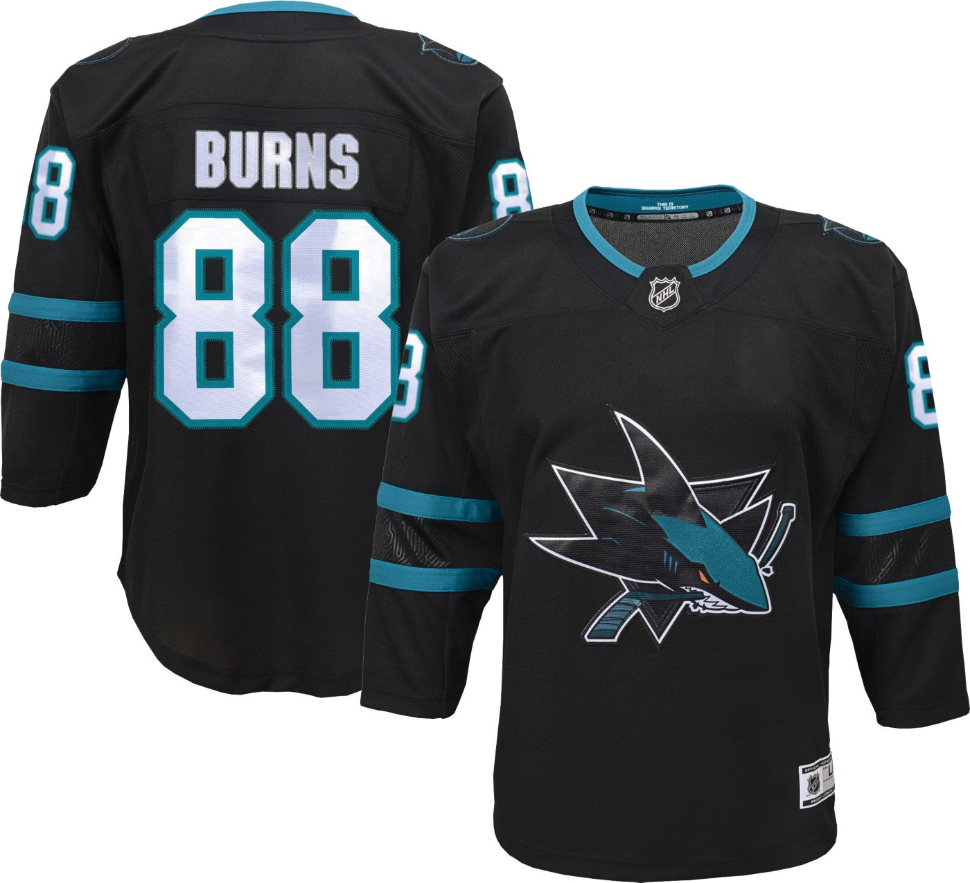 NHL Youth San Jose Sharks Brent Burns #88 Premier Alternate Jersey