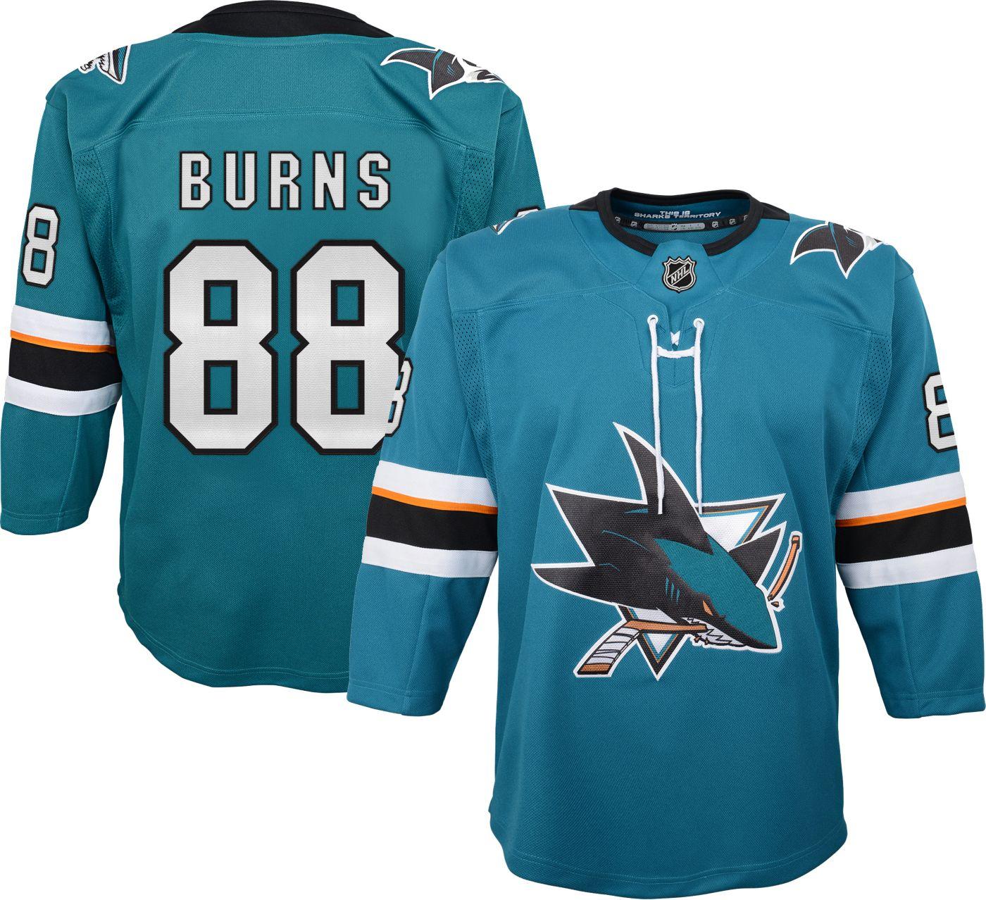NHL Youth San Jose Sharks Brent Burns #88 Premier Home Jersey