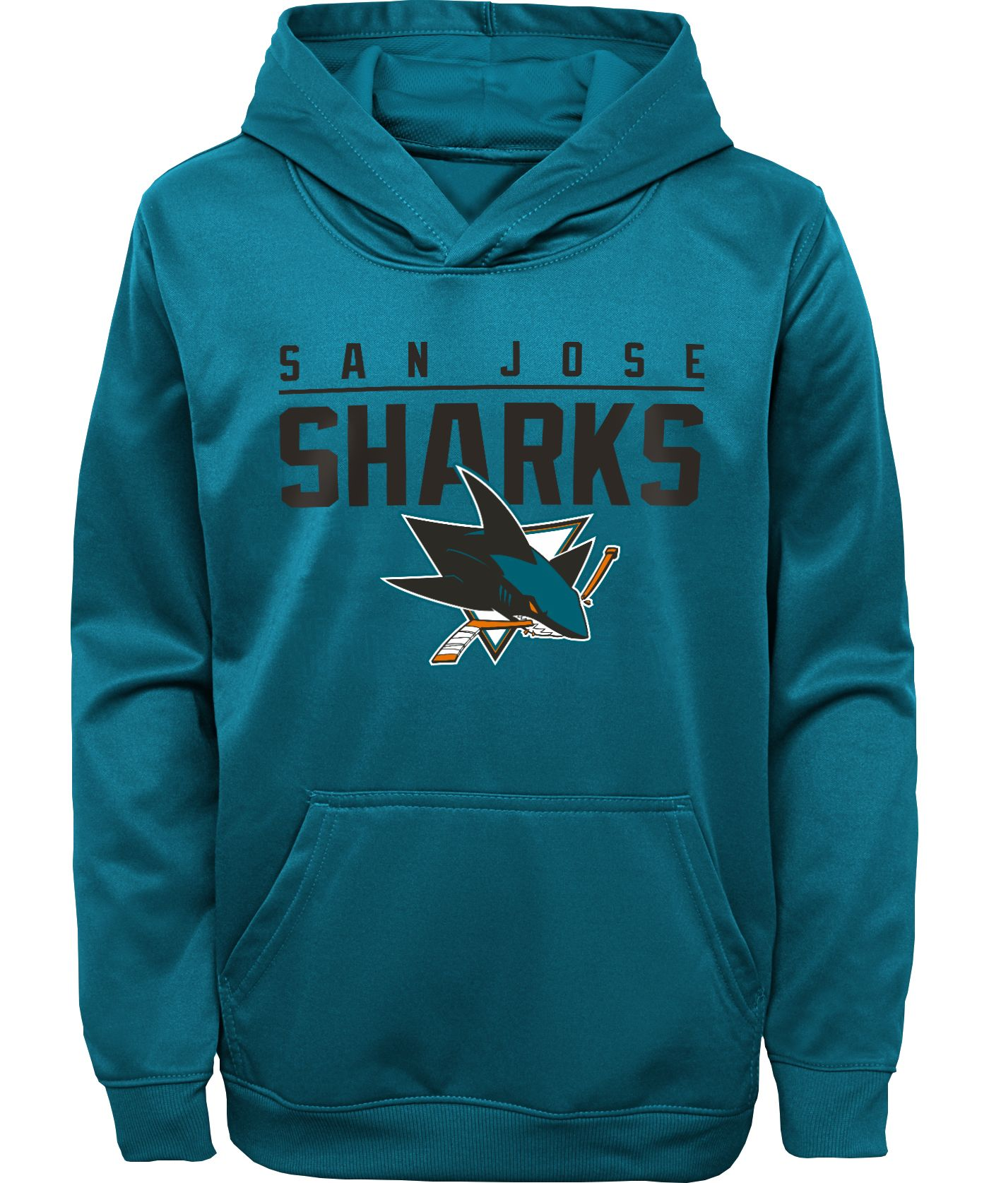 NHL Youth San Jose Sharks Pacesetter Teal Pullover Hoodie