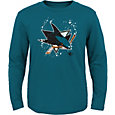 NHL Youth San Jose Sharks Decon Teal Long Sleeve Shirt