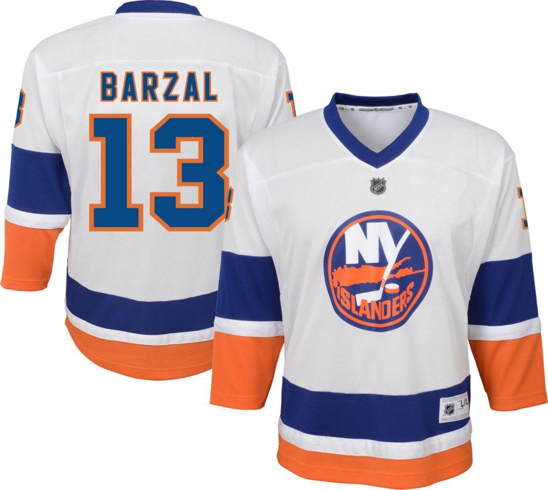 check out 22a60 e5d3f NHL Youth New York Islanders Mathew Barazal #13 Replica Away Jersey