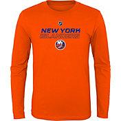 NHL Youth New York Islanders Prime Stock Orange Long Sleeve Shirt