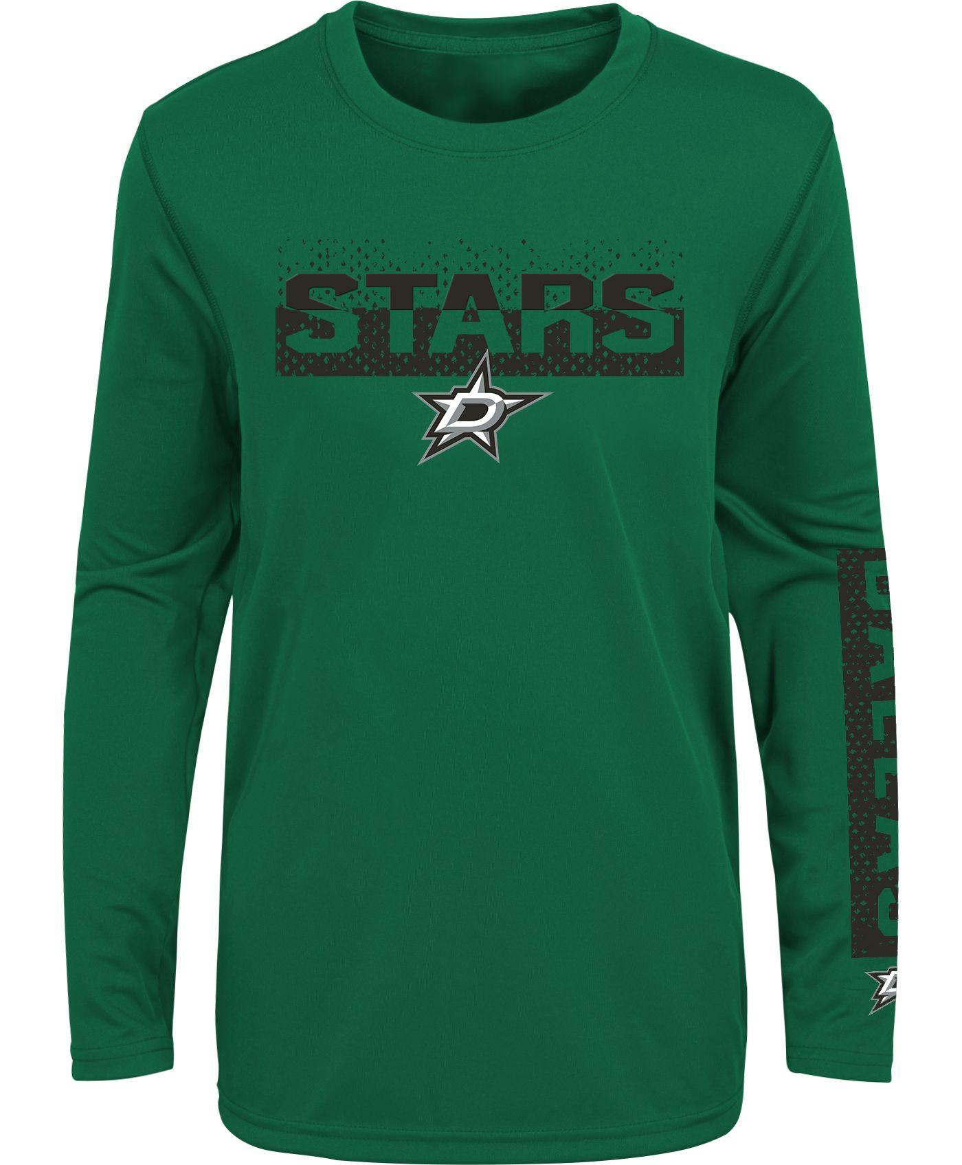 NHL Youth Dallas Stars Slap Shot Green Long Sleeve Shirt