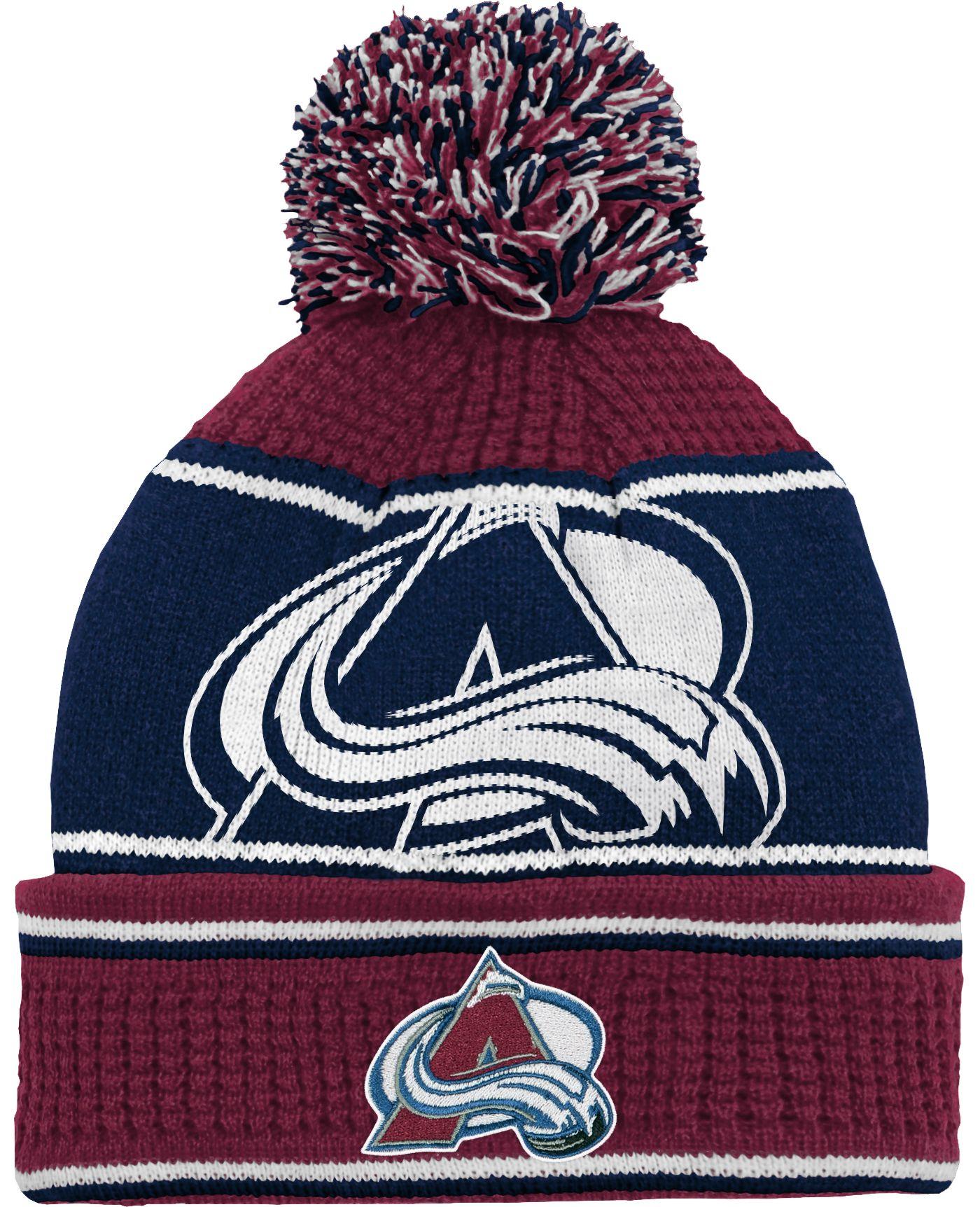 NHL Youth Colorado Avalanche Grind Cuff Pom Knit Beanie