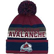 NHL Youth Colorado Avalanche Cuff Pom Knit Beanie