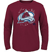 NHL Youth Colorado Avalanche Deconstructed Maroon Long Sleeve Shirt