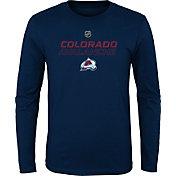 NHL Youth Colorado Avalanche Prime Stock Navy Long Sleeve Shirt