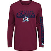 NHL Youth Colorado Avalanche Slap Shot Maroon Long Sleeve Shirt