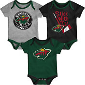NHL Infant Minnesota Wild Cuddle Play 3-Piece Onesie Set