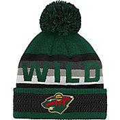 NHL Youth Minnesota Wild Cuff Pom Knit Beanie