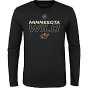 NHL Youth Minnesota Wild Prime Stock Black Long Sleeve Shirt